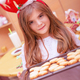 Little girl making Christmas cookies - PhotoDune Item for Sale