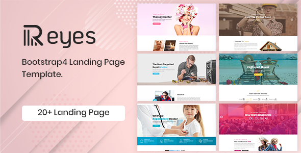 Reyes - Bootstrap 4 Landing Page Template - Business Corporate