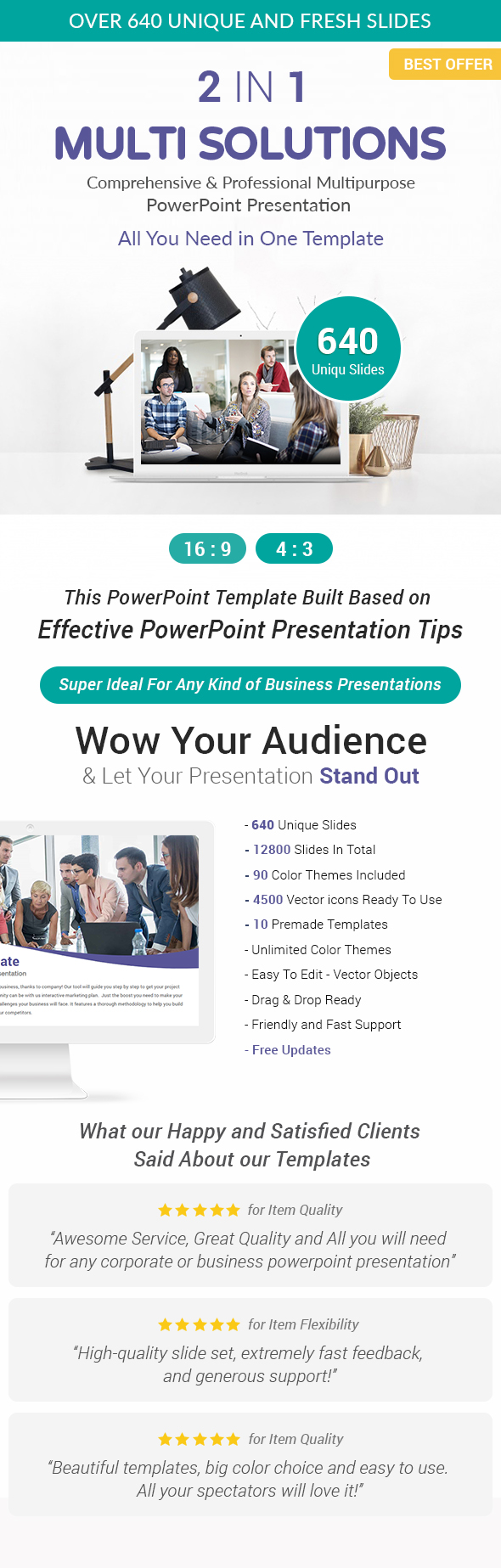 2 In 1 Multi Solutions PowerPoint Presentation Template Bundle - Business PowerPoint Templates