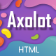 Free Download Axolot - Startup, SaaS & Software Landing Page Template Nulled