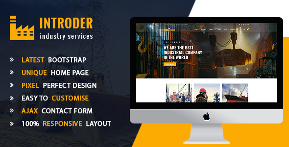 The Intruder - Industry & Factory HTMl5 Template - Corporate Site Templates