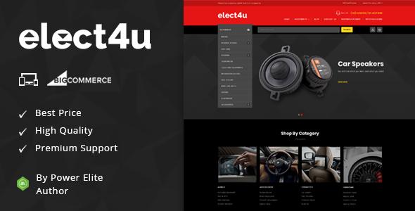 Elect4u - Multipurpose Stencil BigCommerce Theme
