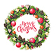 Christmas Wreath with Decorations - GraphicRiver Item for Sale