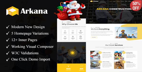 Arkana - One Page Construction WordPress Theme - Corporate WordPress