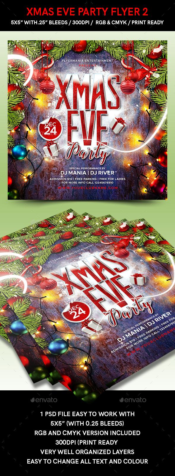 Xmas Eve Party Flyer 2