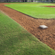 Baseball field from first base side in morning light - PhotoDune Item for Sale
