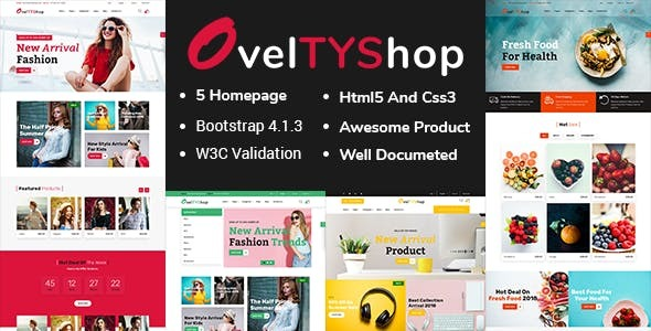 Oveltyshop - ECommerce Responsive Sectioned Drag & Drop Shopify Theme
