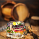 Traditional Russian layered betroot and herring salad (under a f - PhotoDune Item for Sale