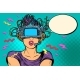 Surprised Woman in VR Glasses - GraphicRiver Item for Sale