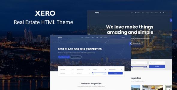 Xero - Real Estate HTML Template - Business Corporate