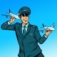 Male Airplane Pilot - GraphicRiver Item for Sale