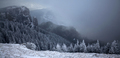 Trees covered with hoarfrost and snow in winter mountains - Chri - PhotoDune Item for Sale