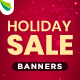 Free Download Holiday Sale Web Banner Set Nulled