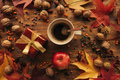 Autumn gift box with cup of coffee - PhotoDune Item for Sale