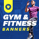 Free Download Gym/Fitness Banner Set Nulled