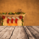 table background with fireplace christmas decor 3D rendering - PhotoDune Item for Sale