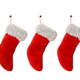 Three Christmas stocking isolated on white background 3D rendering - PhotoDune Item for Sale