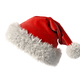 Santa Claus red hat isolated on white background 3D rendering - PhotoDune Item for Sale