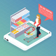 Super Market Online Isometric Composition - GraphicRiver Item for Sale