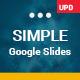 Simple Minimalist Google Slides Business Template Theme - GraphicRiver Item for Sale