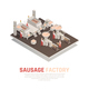 Sausage Factory Isometric Composition - GraphicRiver Item for Sale