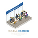 Social Security Isometric Composition - GraphicRiver Item for Sale
