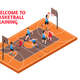 Sport Basketball Training Isometric - GraphicRiver Item for Sale