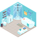 Bathroom Interior Isometric - GraphicRiver Item for Sale