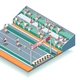 Sports Rollers Competitions Isometric Background - GraphicRiver Item for Sale