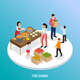 Food Sharing Isometric Background - GraphicRiver Item for Sale