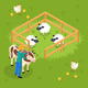 Cattle Farming Isometric Composition - GraphicRiver Item for Sale