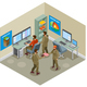 Earth Research Isometric Composition - GraphicRiver Item for Sale