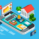 Mobile Loans Isometric Concept - GraphicRiver Item for Sale