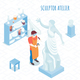 Sculptor Artist Isometric Composition - GraphicRiver Item for Sale