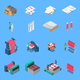 Clothes Factory Isometric Icons Set - GraphicRiver Item for Sale