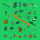 Hunting Isometric Flowchart - GraphicRiver Item for Sale