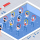 Water Aerobics Class Isometric Illustration - GraphicRiver Item for Sale