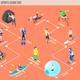 Extreme Sports Isometric Flowchart - GraphicRiver Item for Sale