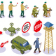 Border Service Isometric Icons - GraphicRiver Item for Sale