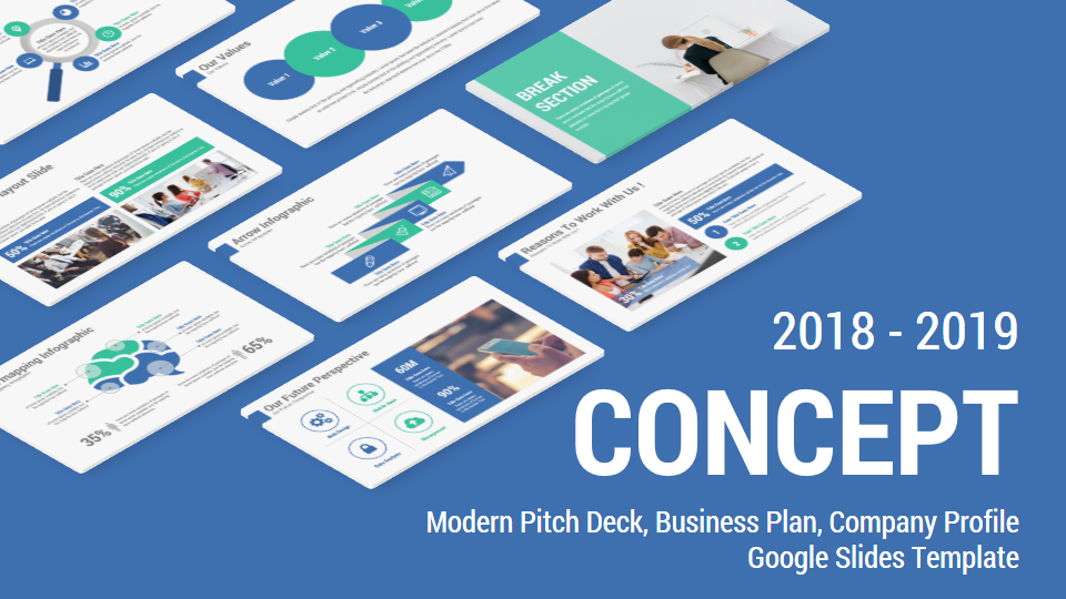 concept business solutions google slides template theme by rojdark