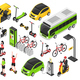 Eco Transport Isometric Set - GraphicRiver Item for Sale