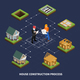 Isometric Construction Process Flowchart - GraphicRiver Item for Sale