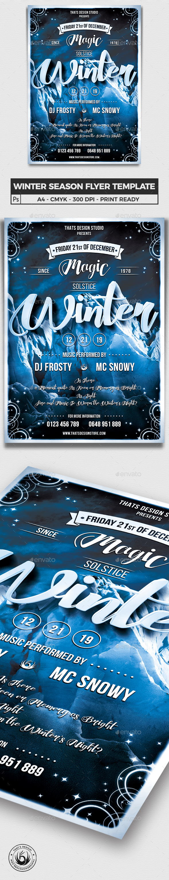 Winter Season Flyer Template V1 - Clubs & Parties Events