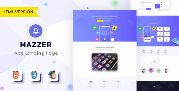 Mazzer - HTML5 App Landing Page