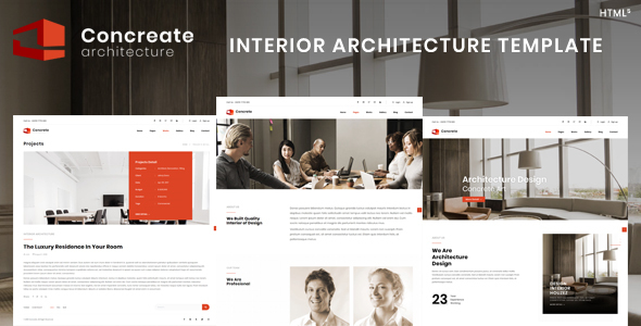 Concreate | Interior Architecture Template - Business Corporate