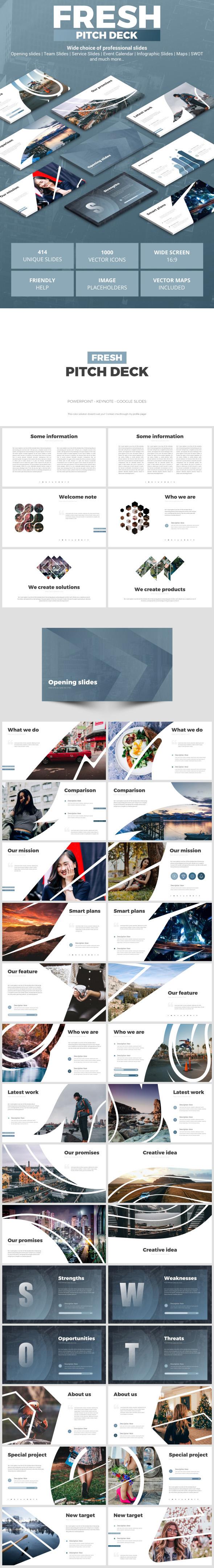 Fresh Pitch Deck - Google Slides Presentation Templates