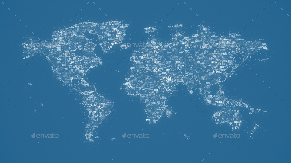 Digital World Map Backgrounds by provitaly | GraphicRiver on