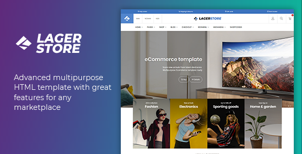 Lager - eCommerce HTML Template - Retail Site Templates
