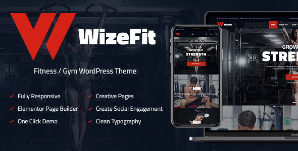 WizeFit – WordPress Theme for Gym & Fitness Clubs - Health & Beauty Retail