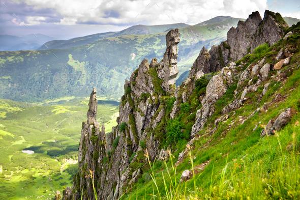 Beautiful mountains landscape - Stock Photo - Images